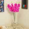 Pink Plastic Artificial Flowers - Set of 2
